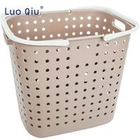 Large portable laundry basket bathroom plastic laundry basket household toys waterproof basket