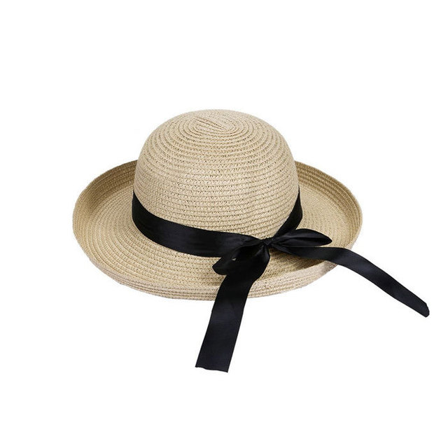 2018 Hot New Fashion Summer Casual Women Ladies Wide Brim Beach Sun Hat Elegant Straw Floppy Bohemia Cap For Women Dating Cheap