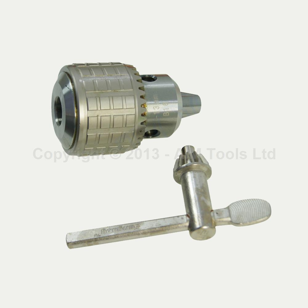 Heavy Duty Press Drill Chuck 1MM - 13MM Taper Mount B16 With Wrench 16 metal drill press quill feed return coil spring assembly 70mm