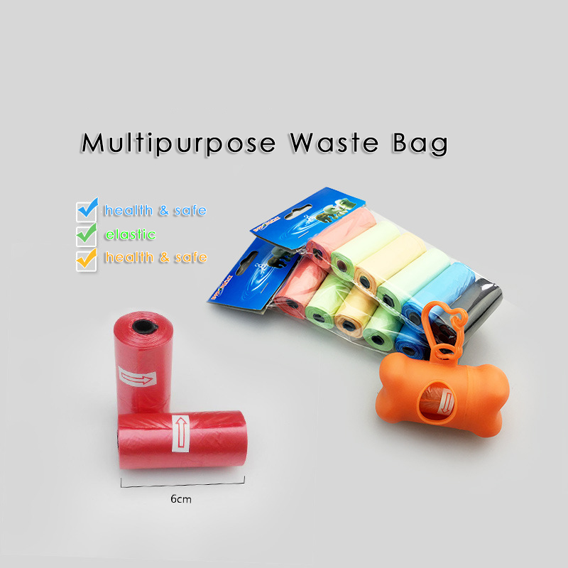 Dropship 1 Set=6 / 12 / 24 / 36 / 42 Rolls Colorful Dog Poop Bag + Dispenser Dog Waste Bag Dispenser Pet Garbage Bag Holder