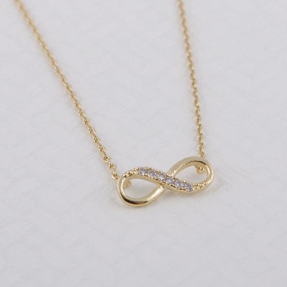 Shuangshuo Tiny Infinity Crystal Privjesak Ogrlice za žene Choker - Modni nakit - Foto 3