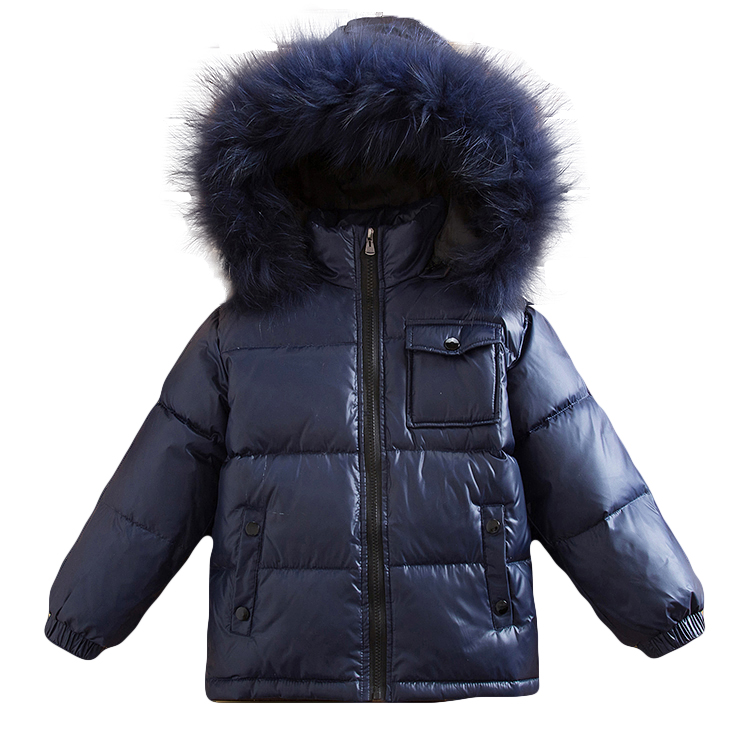 31b50e83a 2018 New -30 Degree Russia Winter Children Clothing Parka Real Fur ...