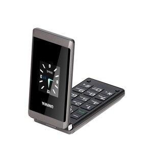 Image 3 - Uniwa X28老人フリップ電話gsm大プッシュボタンフリップ携帯電話デュアルsim fmラジオロシアキーボード携帯電話シニア電話
