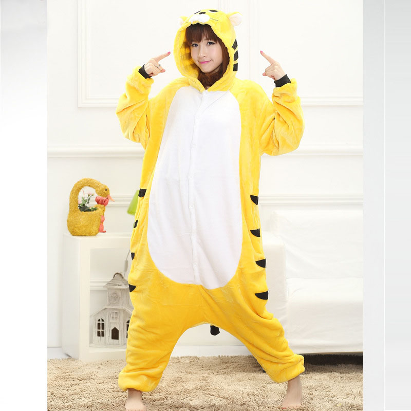 yellow tiger onesie for women