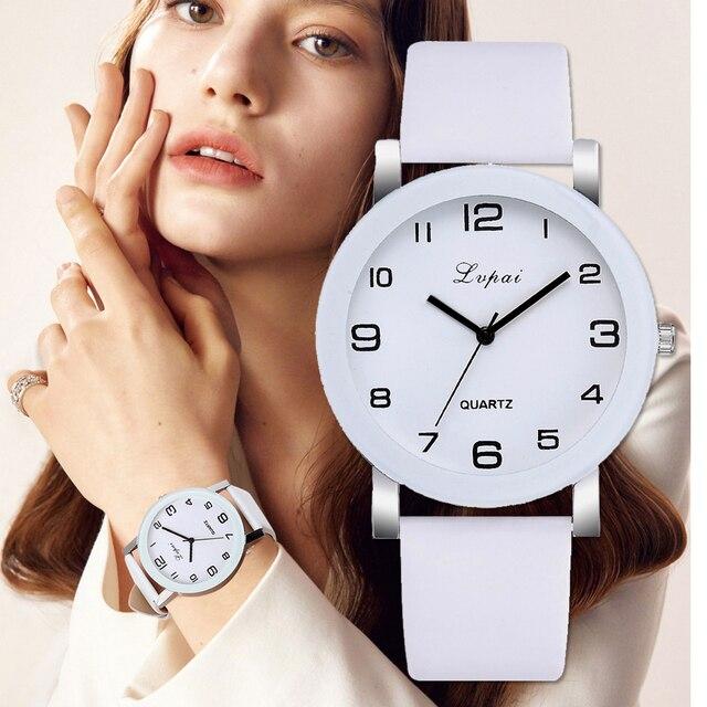 Lvpai marque montres à Quartz pour femmes de luxe Bracelet blanc montres dames robe horloge créative montres 2018 nouveau Relojes Mujer
