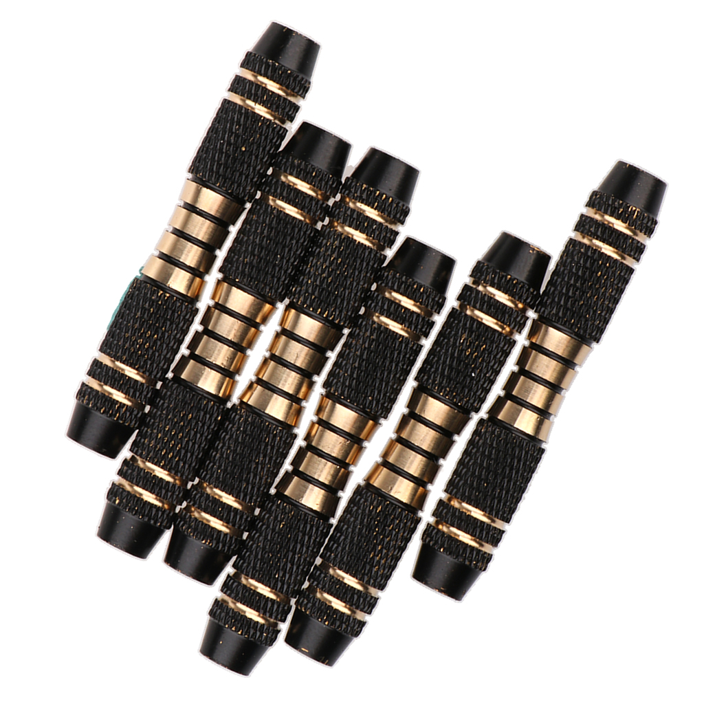 6pcs 16 Grams Copper Dart Barrels Replacement Shafts Grip Black For Soft Tip Dart And Steel Tip Darts Play Accessories