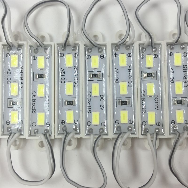New Arrival SMD 5730 3 LED Module DC12V Waterproof Pure White LED Lighting Module For Signage Mini Led Modules 36x9mm