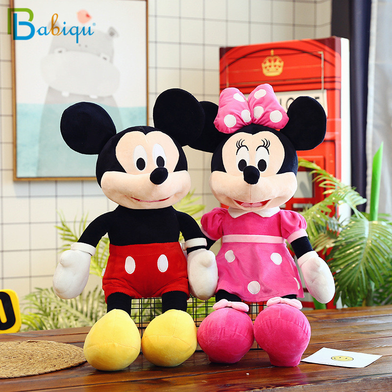 1pc 40/60/70cm Lovely Mickey Mouse And Minnie Mouse Plush Cartoon Figure Toys Stuffed Dolls Kids Girl Christmas Birthday Gift