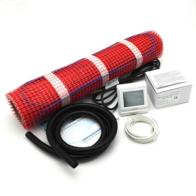 230V 0.5M Wide Electric Underfloor Heating System Under Tile Heating Mat Kits 0.5 1.5 2.5 3.5 4.5 Square Meters + M9 Thermostat-in Electric Heating Pads from Home & Garden    1