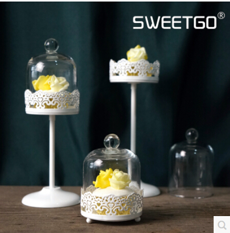 Lace with high glass wedding cake pan continental candlestick glass ...