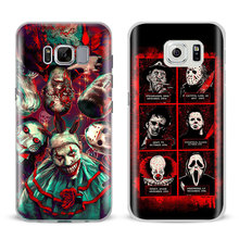 Horror icons Coque Mobile Phone Case Shell Cover Bag For Samsung Galaxy S4 S5 S6 S7 Edge S8 Plus Note 2 3 4 5 A5 A710 J5 J7 2017