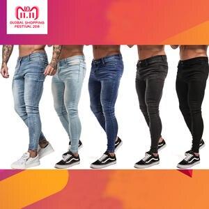 789fb3ca Gingtto Skinny Jeans For Men Black Stretch Slim Fit Biker