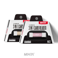 MIXZA MAC57 3in1 TF Card Reader Sd Card Adapter For Iphone 6s 7 Plus Pendrive Metal