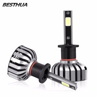 Newest 2Pcs H1 H4 H7 H11 H8 H9 Car Headlight Bulbs COB 40W 60W LED Vehicle