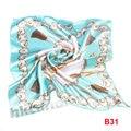 Silk scarf headband small facecloth square in 50cm sky blue scarf bandanas handkerchief neckerchief muffl