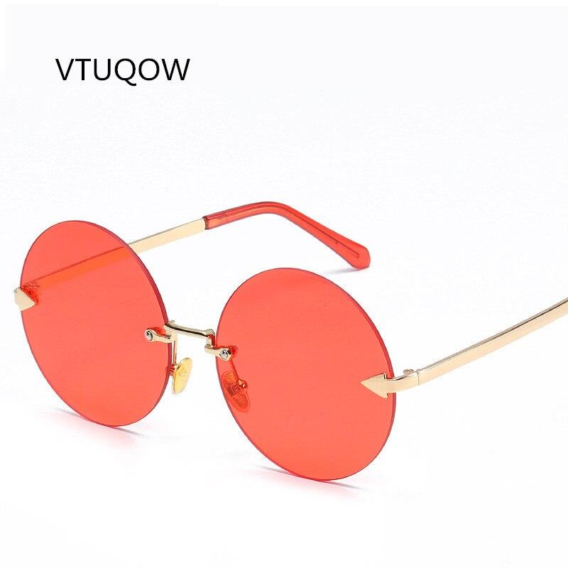 2019 Vintage Rimless Sunglasses Women Men Brand Designer