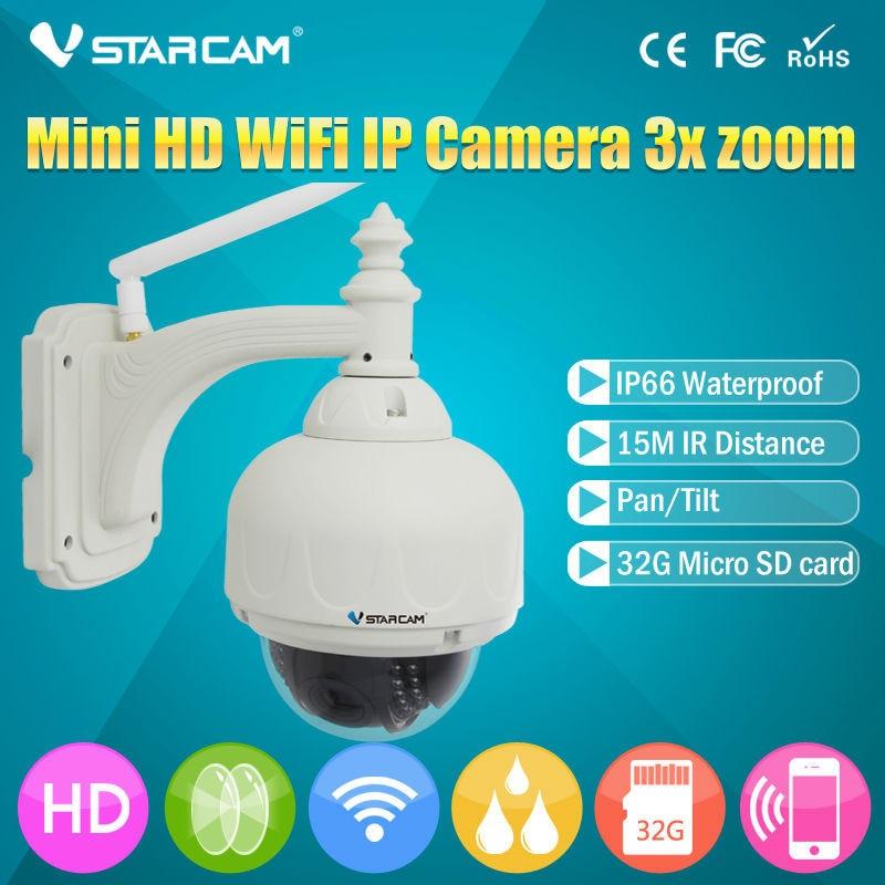 VSTARCAM Onvif  Wireless IP Camera Outdoor HD 720P WIFI PTZ  Dome CCTV Security With 4 Optical Zoom Support 128G SD Card IP Cam vstarcam c7833wip x4 ptz 4x zoom outdoor ir dome 2 8 12mm cctv security ip camera wifi wireless hd 720p