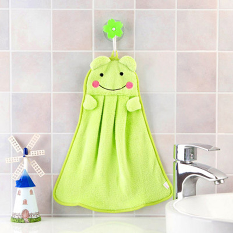 Image 5 - TTLIFE Hand Water Absorbent Towel Coral Velvet Cartoon Kitchen Hang Washcloth Nursery Soft Household Eco friendly Candy Colors-in Hand Towels from Home & Garden