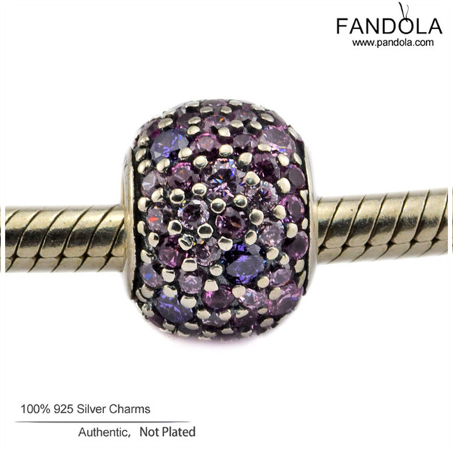 2016 New CKK 925 Sterling-Silver-Jewelry DIY Beads Pave Ball Women Charm Jewelry Making Fits Fandola Charms Bracelet