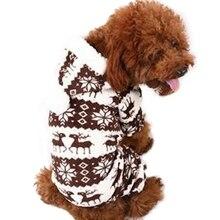 Маленькая Собака Пальто Снежинка Олень Животное Руно Теплее Ткань Рождественских Куртки Hoody