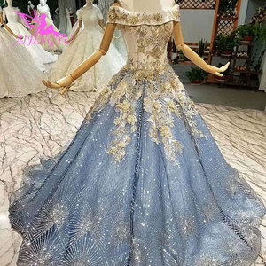 Image 3 - AIJINGYU Wedding Dresses New Vintage Gowns Marriage Islamic Long Tail Indian Sexy Bride Affordable Wedding Dress Shops