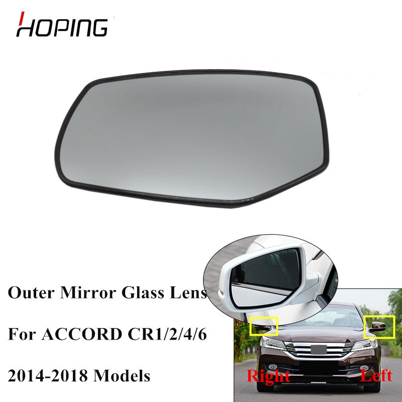 Left side for Nissan Qashqai 2014-2018 heated wing door mirror glass