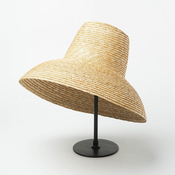 New Popular Lamp Shape Sun Hat for Women Big Wide Brim Summer Beach Ladies High Top Straw UV Protection Derby Travel - discount item  50% OFF Hats & Caps
