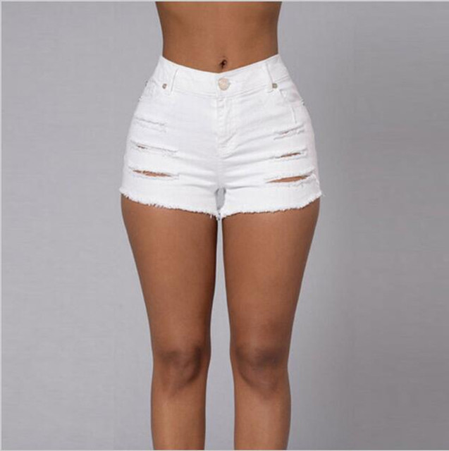 High waist short jeans pants