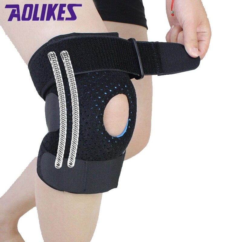Prix pour AOLIKES 1 pièce Mountaineer genouillères fitness rodillera soutien Sports De Sécurité genouillère rodilleras deportivas protetor de joelho