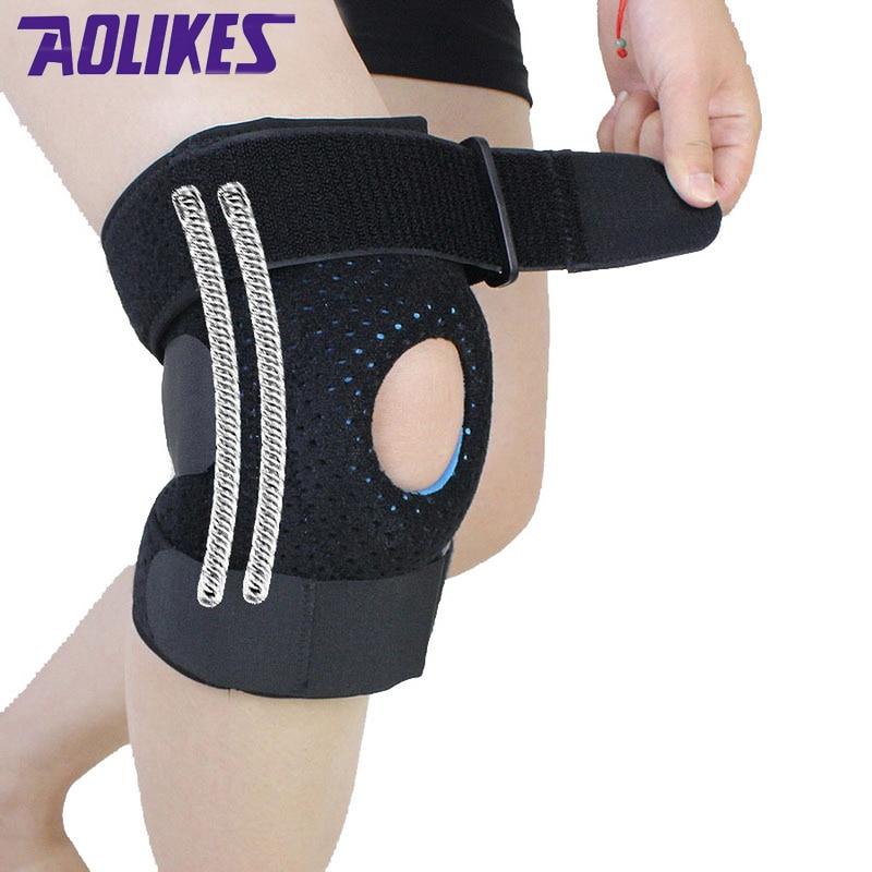 AOLIKES 1 vnt. Alpinistų kelio trinkelės fitneso rodillera palaikymas Sporto saugumas kneepad rodilleras deportivas protetor de joelho