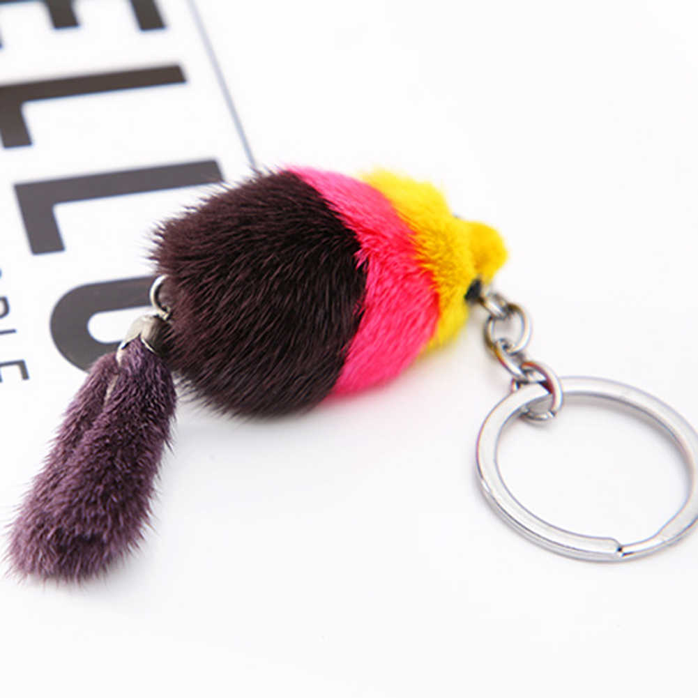 Warna-warni Lucu Mewah Fox Liontin Mobil Gantungan Kunci Gantungan Kunci Tas Gantung Dekorasi Hadiah Baru Panas