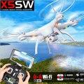 100% original syma x5sw wi-fi rc fpv quadcopter zangão com câmera Sem Cabeça 2.4G 6-Axis RC Tempo Real Quad helicóptero toys
