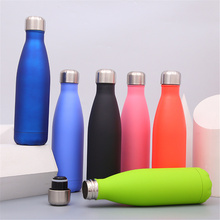 Solid Color Water Bottle BPA free 304 Stainless Steel Travel Sport Drink Beer Tea Coffee Thermos Insulated Bottles