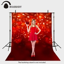 backdrops for photo fabric vinyl Valentine heart red romance background photography photocall camera