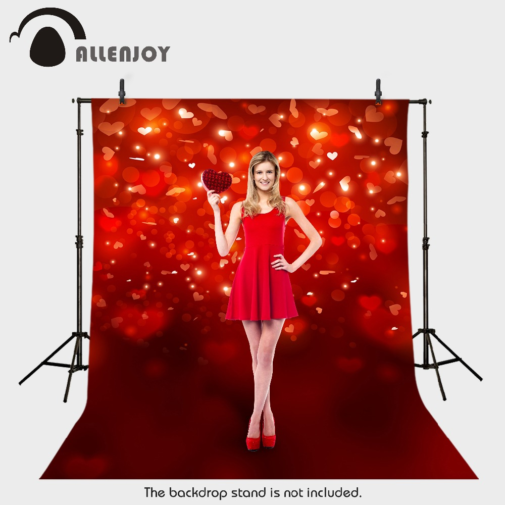 backdrops for photo fabric vinyl Valentine heart red romance background photography photocall camera 10x10ft vinyl backdrops for photography valentine day photography background qr217