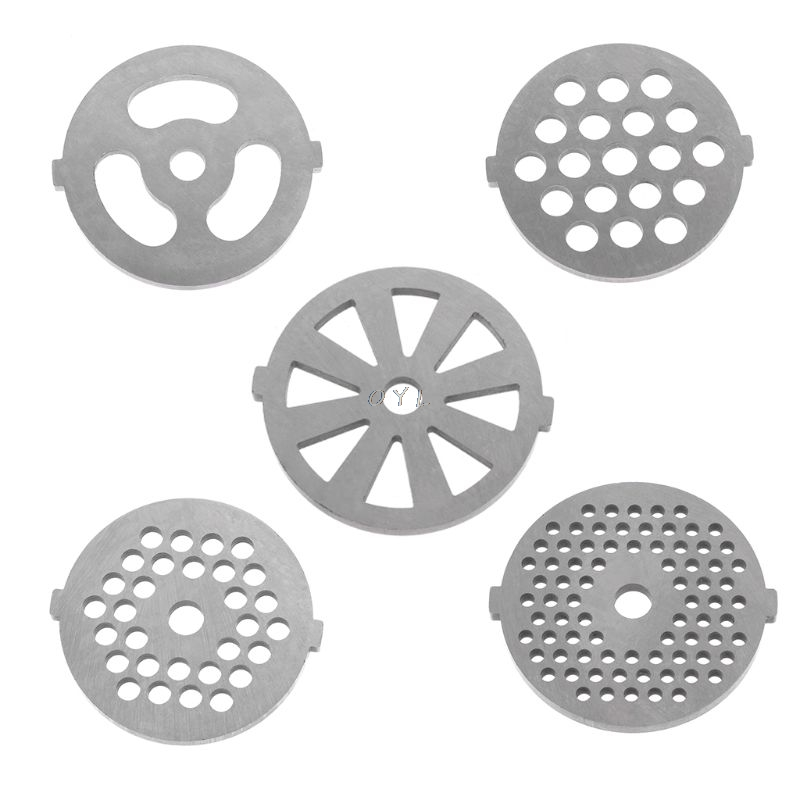 5 Types Meat Grinder Plate Net Knife Meat Grinder Parts Stainless Steel Meat Hole Plate