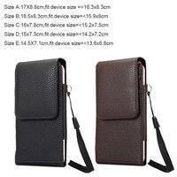 Verticialロータリー男ベルトクリップストラップ革携帯電話caseカードポーチ� ony xperia xz premium, xperia xzs、zopoライオンハー