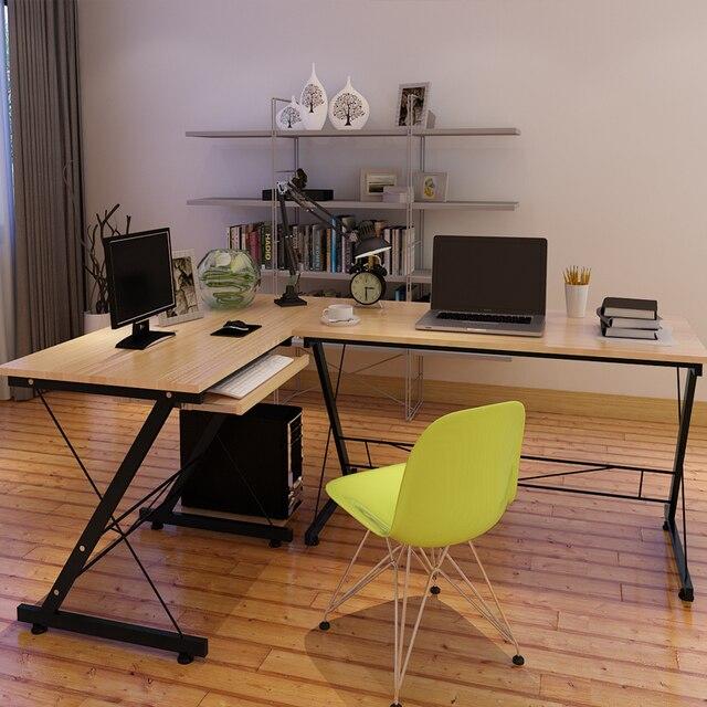 casa minimalista esquina escritorio de la computadora estantera mueble combinacin de mesa