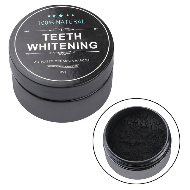 SWT 30g Natural Organic Charcoal Powder Teeth Whitening Passed FDA Test Cleaning Smoke Tea Coffee Teeth Grounds