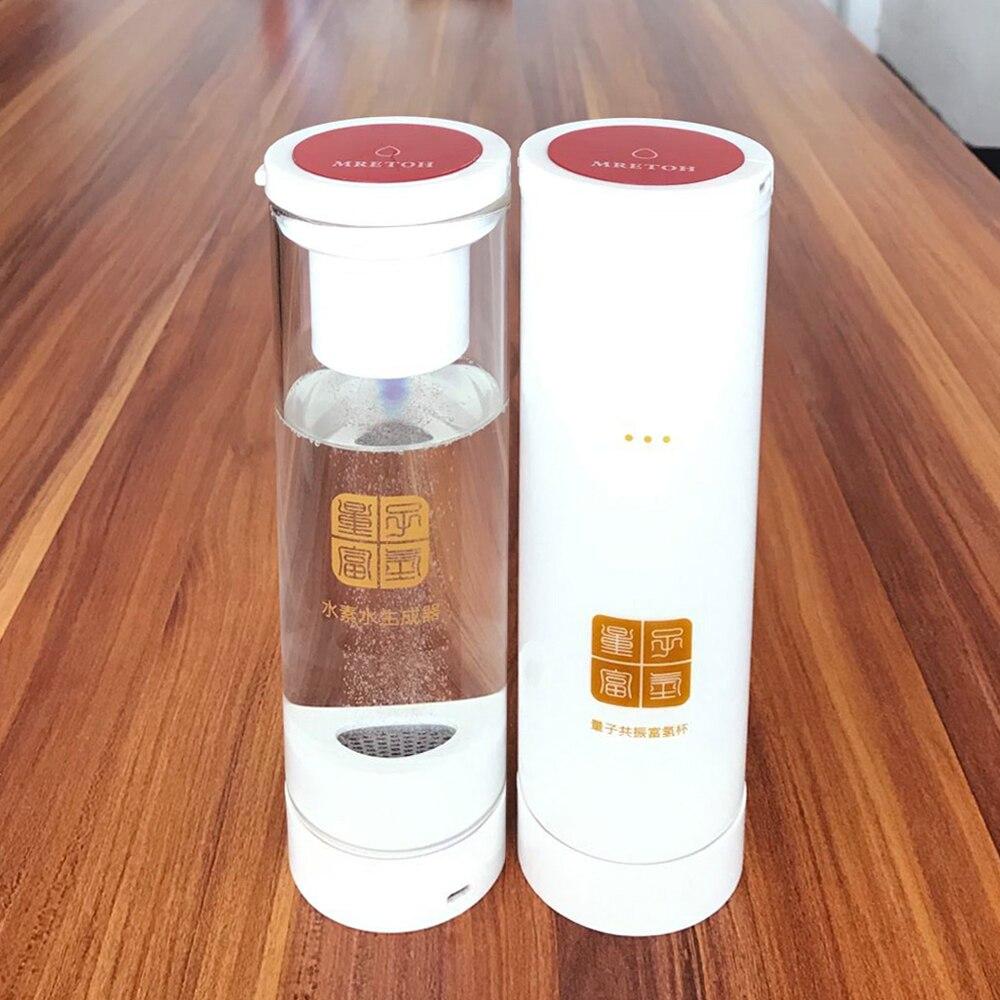 Molecular Resonance Effect Technology MRETOH 7.8 hertz and Hydrogen generator H2 electrolysis Hydrogen rich water cup/bottle