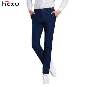 HCYX 2019 New Design High quality Upscale Men's Casual Pants Men Full Cotton Slim Fit Pants Trousers Male Fashion Plus size - DISCOUNT ITEM  58% OFF All Category