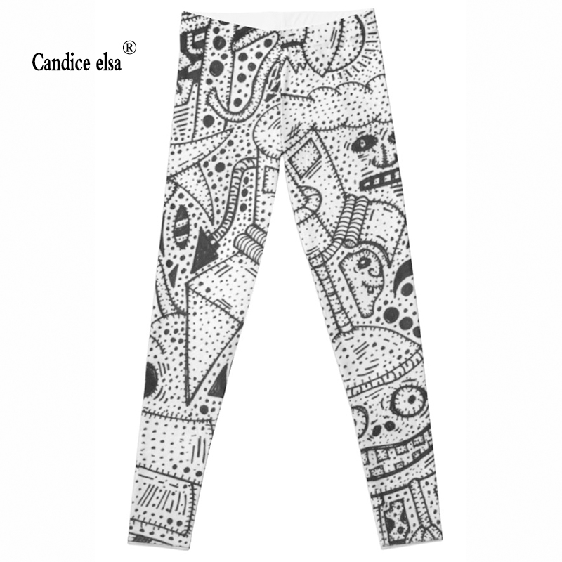 Leggings Women Fashion Hot sexy  hot &new Geometry Digital printing Pencil Trousers Size S-4XL Drop ship