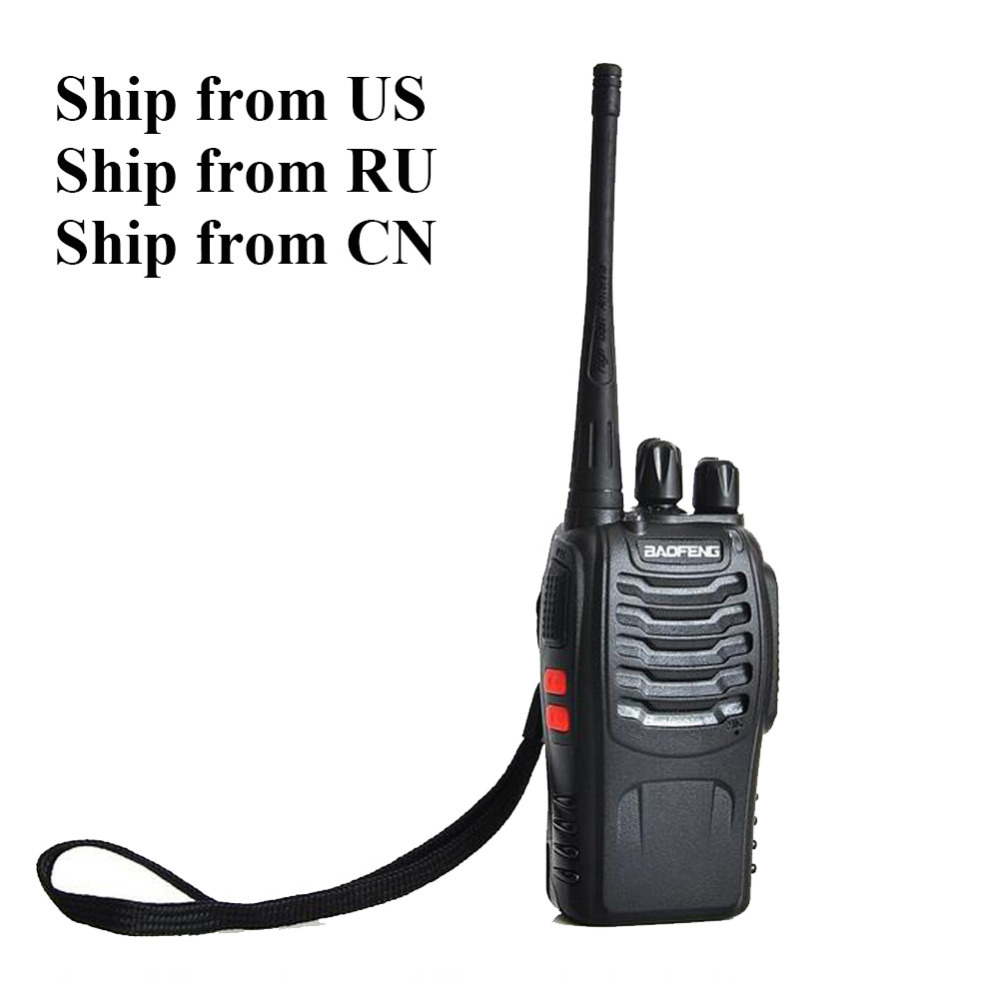 Wordt verzonden vanuit RU / VS! 2 stks Baofeng bf-888s Two Way Radio Dual Band 5 W Handheld Pofung bf-888s 400-470 MHz UHF Walkie-talkie