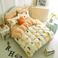 Minions cartoon kids/children bedding sets queen size bedclothes quilt/comforter/duvet cover sheet pillowcase 4pc bed set