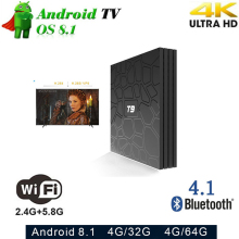 T9 Rockchip RK3328 Android 8.1 TV Box 4GB Ram 32GB 64GB ROM Smart 4K set top box 2.4G/5G WIFI BT4.1 Media player PK H96 TVBOX h96 max smart tv box android 7 1 rockchip rk3328 4gb ram 64gb rom iptv smart set top box 4k usb 3 0 hdr h 265 media player box