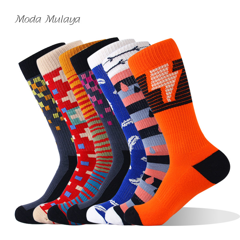 Mens 100% Cotton Happy Socks Men's Crew Thermal Novelty Funny Sock Funny Hombre Calcetines Hombre Divertido Socks Gift For Men