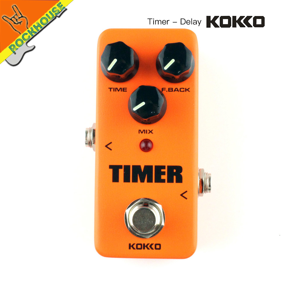 KOKKO Digital Delay Guitar Effect Pedal Echo Delay 25-1000ms delay time Warm and Nature Tone True Bypass Free Shipping aroma ape 3 pure for echo digital delay electric mini digital guitar effect pedal with true bypass aluminium alloy