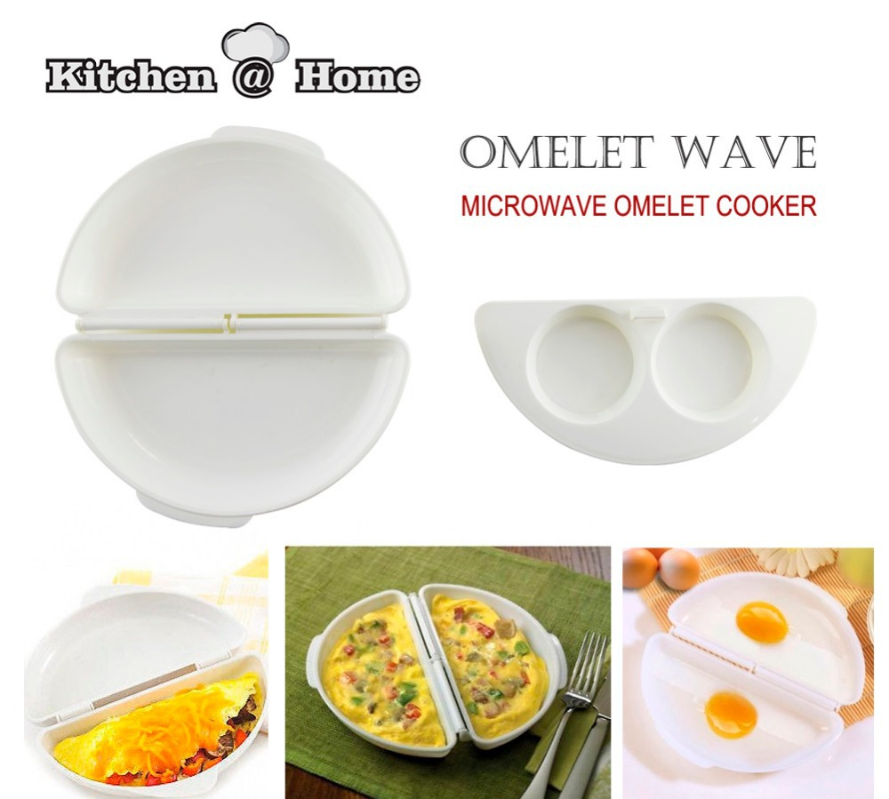 Microwave Omelet Pan Maker Egg Poarcher Cooks 1 2 Eggs Minutes Microwavable Cooker Omelette Kk067 In Pancake Rings From Home Garden On