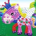3D de espuma EVA coche de dibujos animados mosaicos arte pintura niños de los niños juego Multicolor rompecabezas DIY hechos a mano artesanal