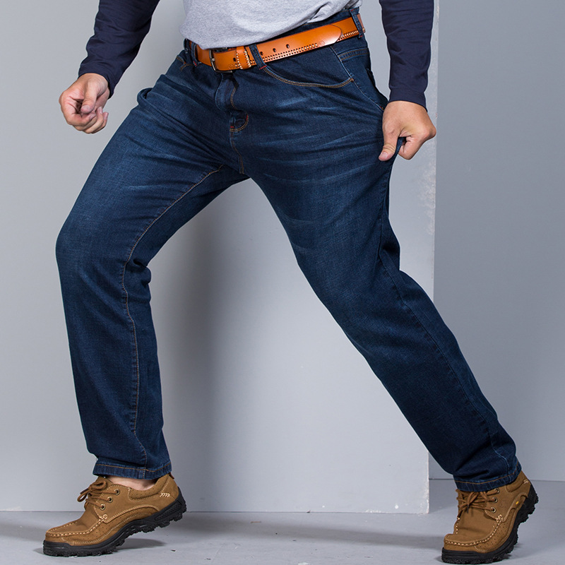 Grandwish Big Pants Denim Fit Plus Size Jeans Men Baggy